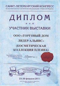 Диплом Невские берега 2011 г.